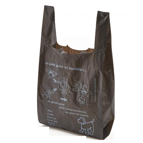 Sac plastique publicitaire bretelles moyenne taille